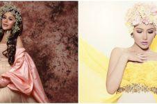 Gaya maternity shoot 7 penyanyi dangdut, Nella Kharisma bak bangsawan