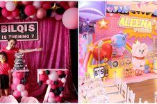 Perayaan ultah 8 anak seleb tema K-Pop, kue putri Vino G Bastian unik
