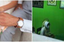 Viral aksi fotografer motret acara akad lewat ventilasi, taat PPKM