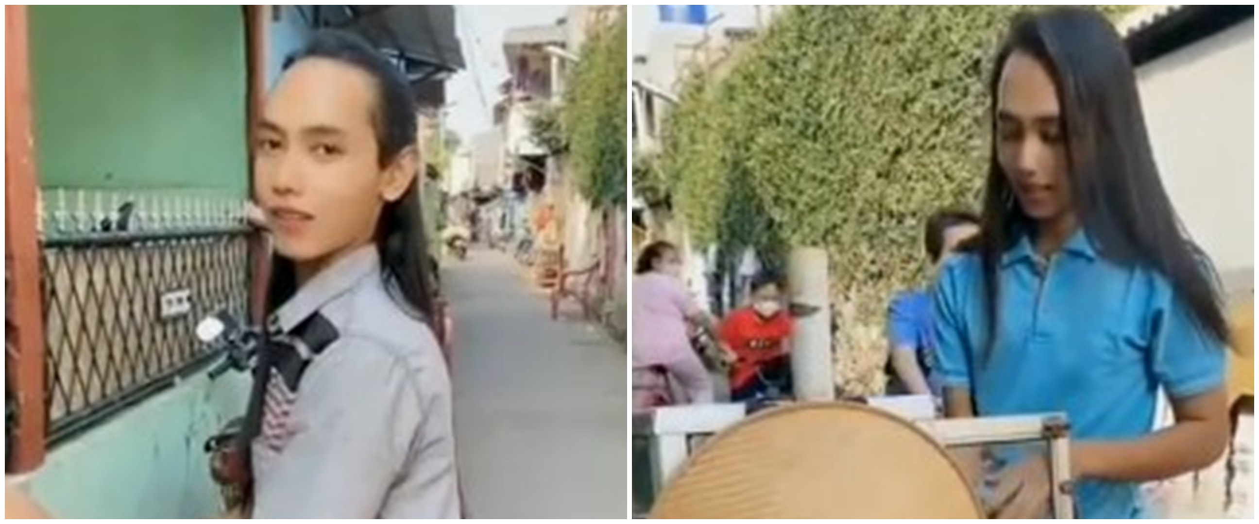 Mendadak viral, cowok penjual jamu ini rambutnya indah bak perempuan