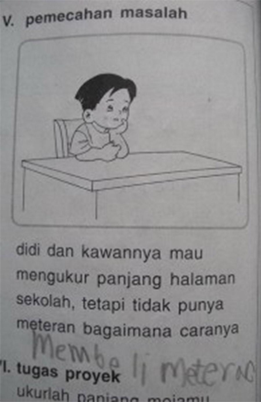 Gambar lucu di soal ujian © 1cak.com