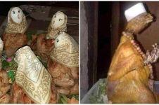9 Potret lucu penyajian ayam goreng ini bentuknya absurd abis