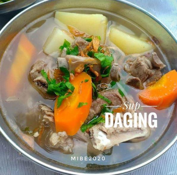 resep sup daging  berbagai sumber
