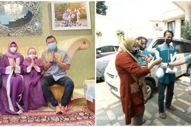 9 Momen Ashanty dan keluarga bagi-bagi daging kurban, masuk ke pelosok