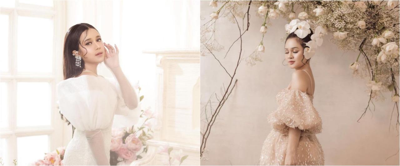 Beda gaya 9 penyanyi pemotretan bertema floral, Cinta Laura klasik