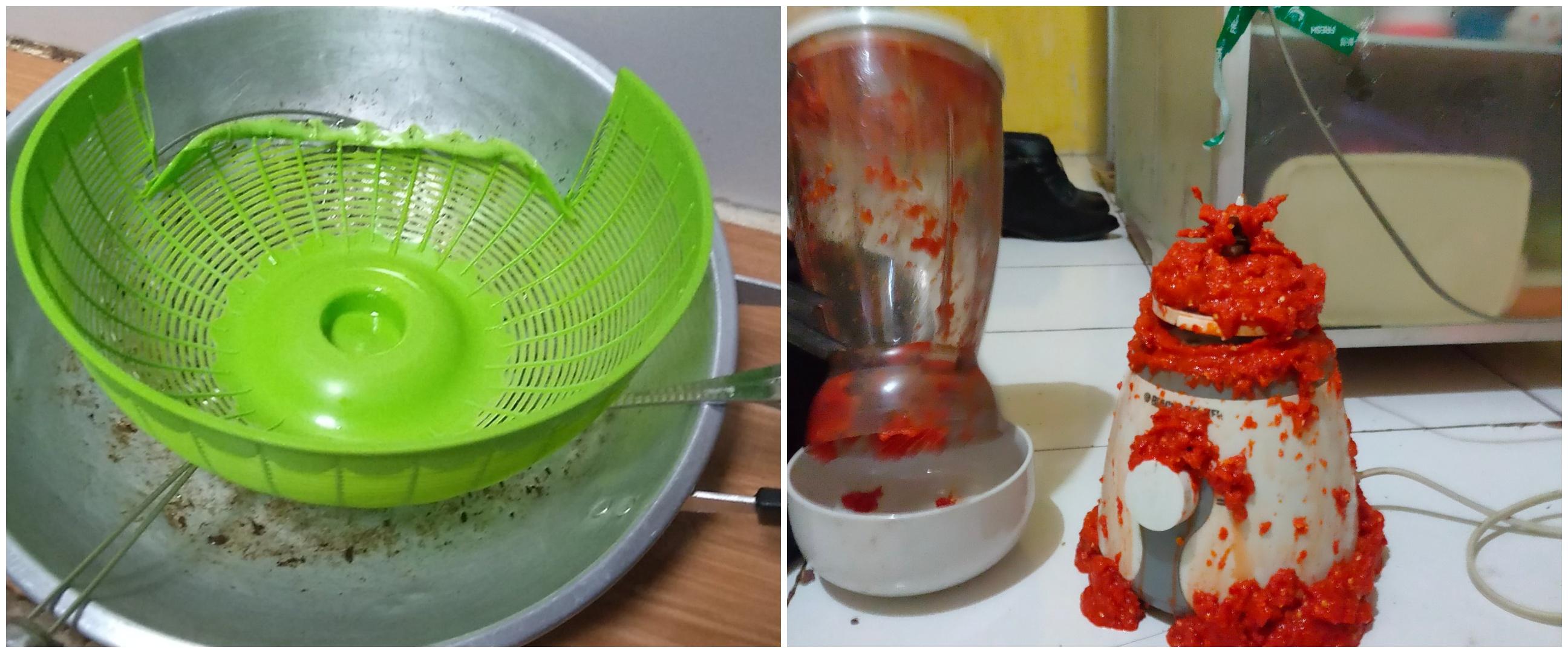 11 Potret apes cewek pas masak, perabot dapur jadi korbannya
