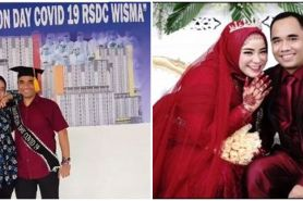 Kisah pasangan bertemu saat isolasi di Wisma Atlet berujung menikah