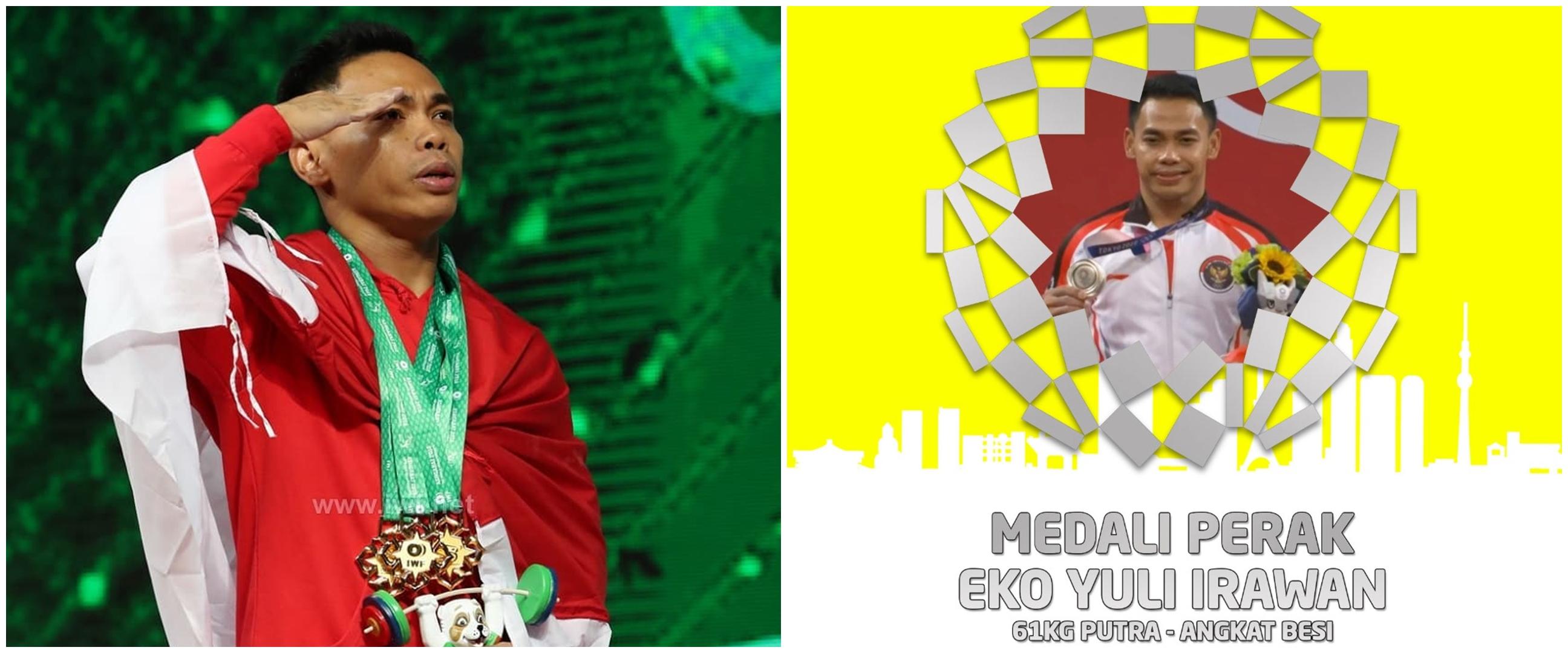 Ungkapan haru Eko Yuli Irawan usai sabet medali perak bagi Indonesia