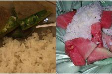 11 Potret lucu lauk saat makan nasi ini nyeneleh abis