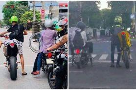 13 Momen lucu pengendara motor di jalan ini aksinya bikin ketawa