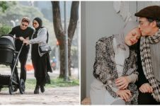 9 Gaya pemotretan Dinda Hauw & Rey bareng buah hati, penuh kehangatan
