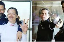 6 Potret atlet anggar Argentina & pelatih, lamaran di Olimpiade Tokyo