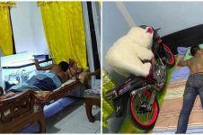 9 Potret orang tidur bareng benda kesayangan, bikin ngakak