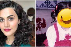 9 Potret masa kecil Taapsee Pannu 'Thappad', gaya rambutnya lucu