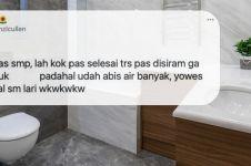 11 Curhatan siswa 'kebelet' dan pakai toilet sekolah ini kocak abis