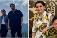 Momen Menteri Airlangga dicubit istri saat vaksin, curi perhatian