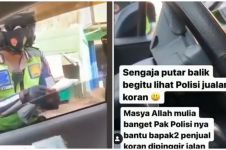 Viral polisi di Solo bantu lansia jualan koran dan tisu, tuai pujian