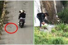 Boncengan sambil rekam pemandangan, iPhone 8+ wanita jatuh ke sungai