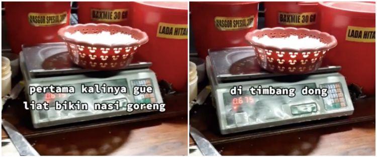 Penjual nasgor timbang nasi sebelum dimasak, alasannya tak terduga