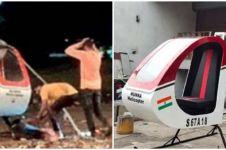 Miris, pemuda ini tewas akibat helikopter buatannya