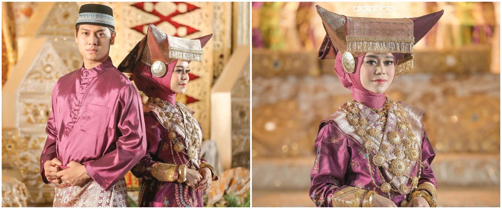 9 Potret detail penampilan Lesty Kejora saat Malam Bainai, anggun