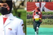 5 Potret Ardelia Muthia Zahwa, pembawa baki bendera HUT RI ke-76