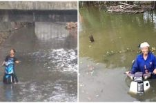 11 Momen apes orang di sungai ini absurdnya bikin gagal paham