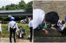 Aksi berani polisi selamatkan korban terjebak banjir, tuai pujian