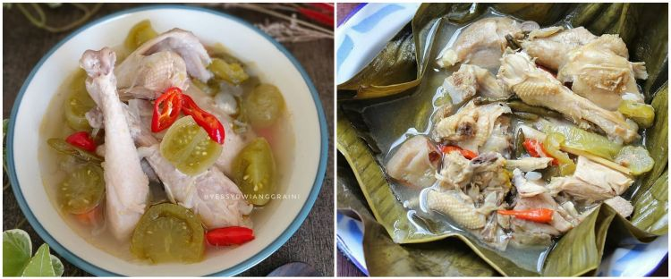 11 A spicy recipe for village chicken sour, fresh and tongue -in -cheek
