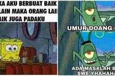 11 Meme lucu SpongeBob belajar tentang kehidupan ini bikin kesindir