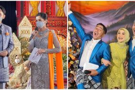 Gaya 7 seleb jadi host rangkaian acara pernikahan Lesty dan Billar