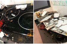 Cerita wanita hadapi tembok dapur yang runtuh, jadi sorotan