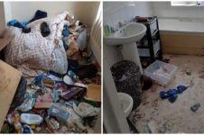 Potret miris kondisi kamar ditinggal penyewa, sisakan 60 karung sampah