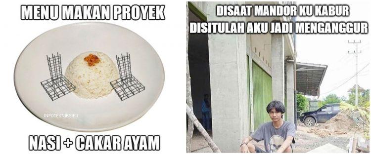 13 Meme lucu lika-liku tukang bangunan ini endingnya ngeselin banget