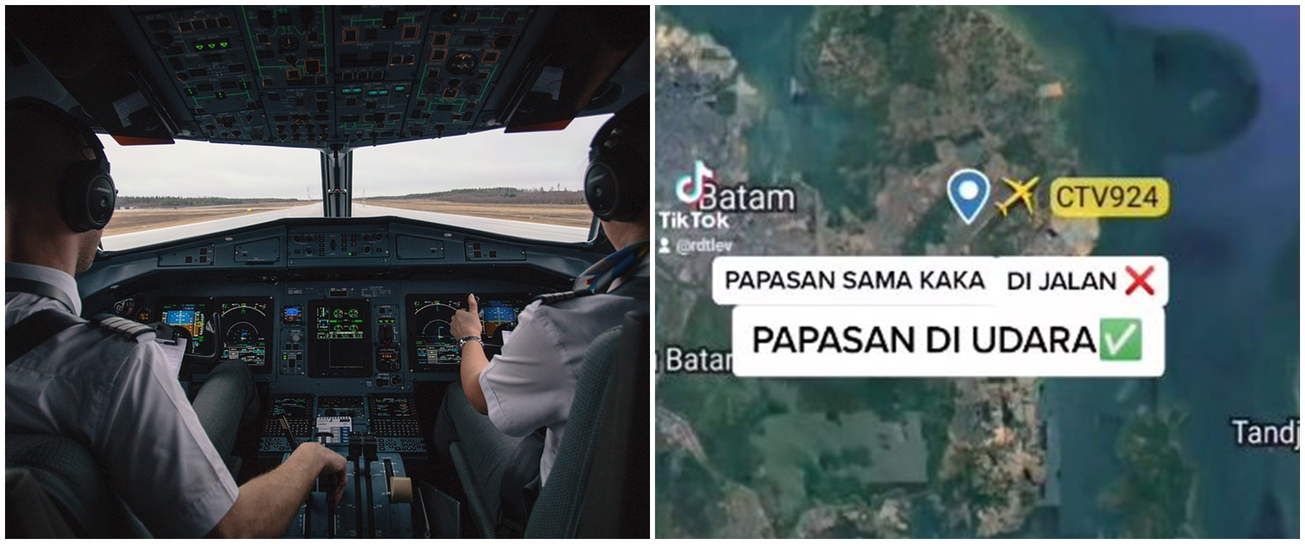 Momen kakak beradik pilot 'bertemu' di udara, sempat saling sapa