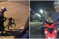 Kisah driver ojek online bersepeda 15 km, semangatnya diganjar motor