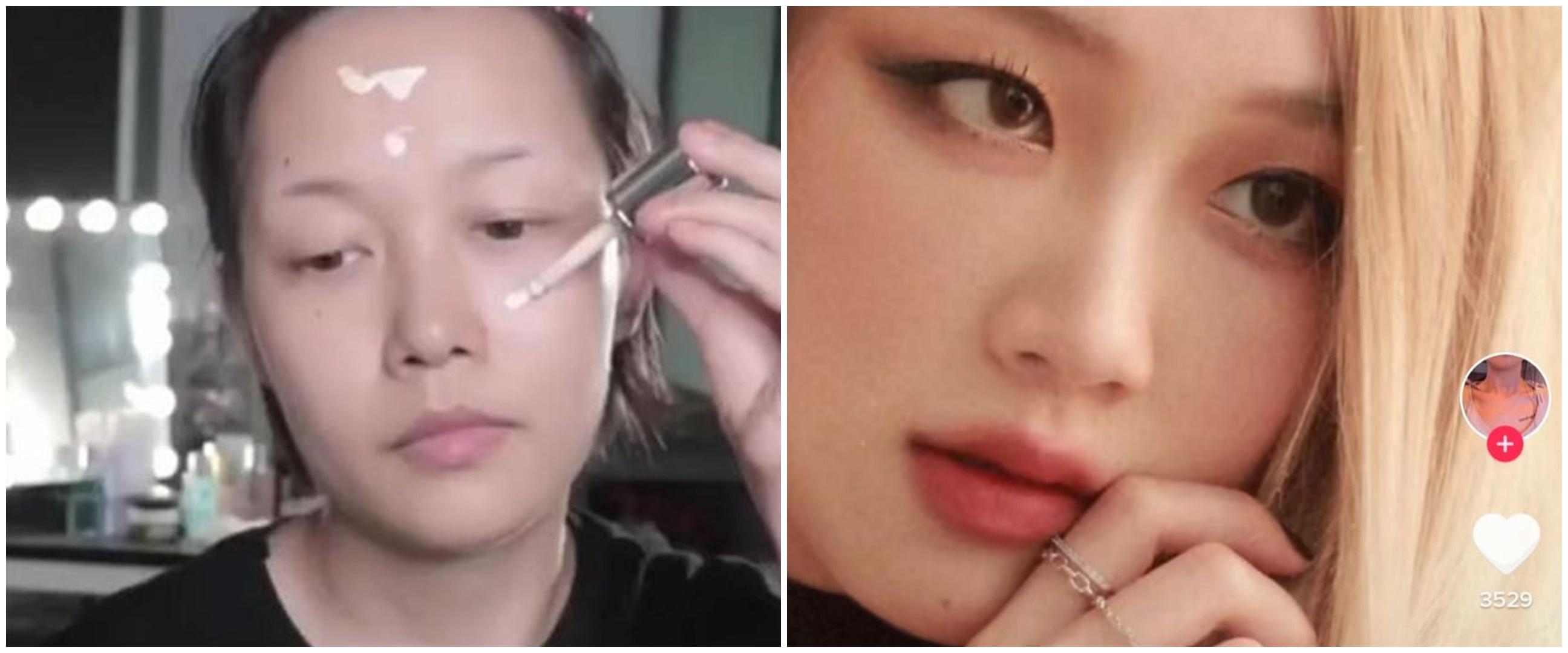 Aksi wanita bisa berubah jadi seleb dunia, skill makeupnya juara
