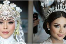 Makeup berkonsep sama, ini 7 potret beda gaya pernikahan Lesty & Aurel