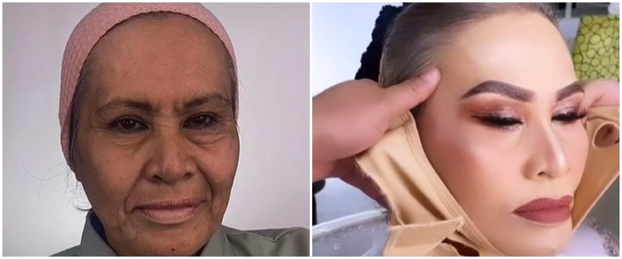 MUA ini rias seorang nenek, hasilnya laksana gadis tanpa kerutan