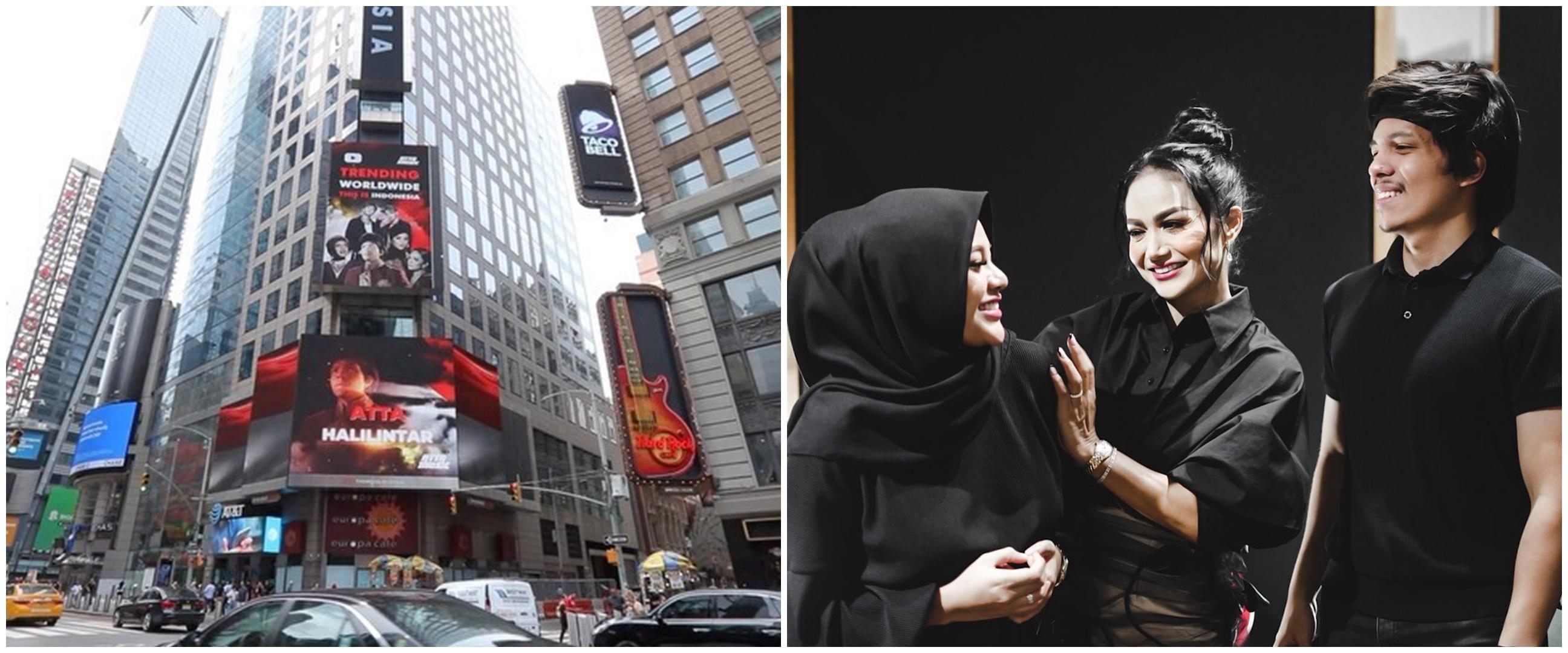 Lagu Atta dan Aurel diputar di Times Square New York, KD bangga