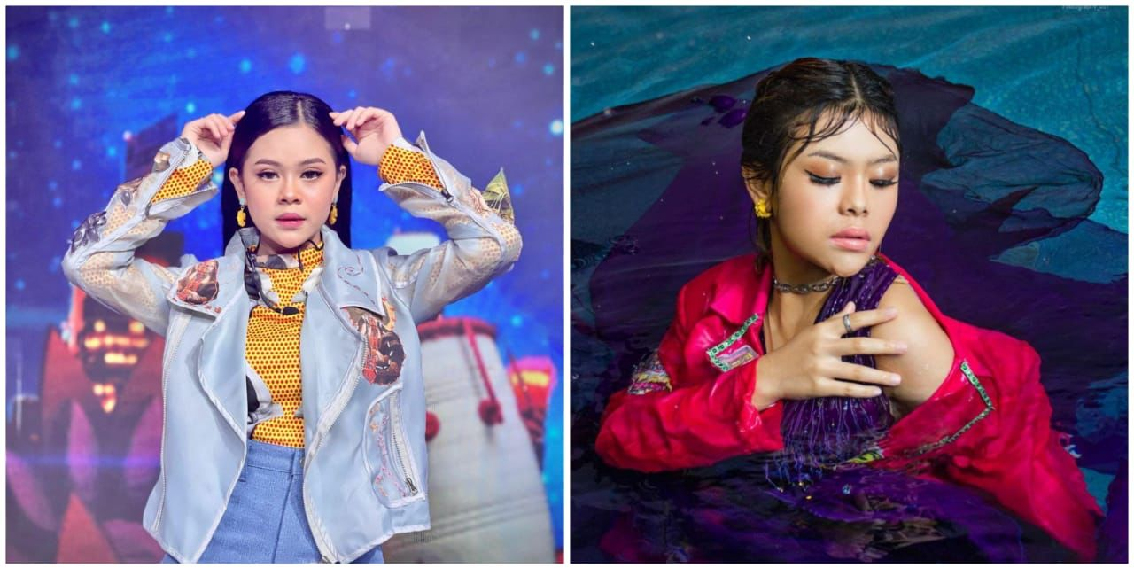 7 Gaya pemotretan terbaru Meli LIDA, basah-basahan di kolam renang