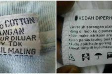 13 Peringatan lucu tertulis di baju ini absurdnya bikin melongo