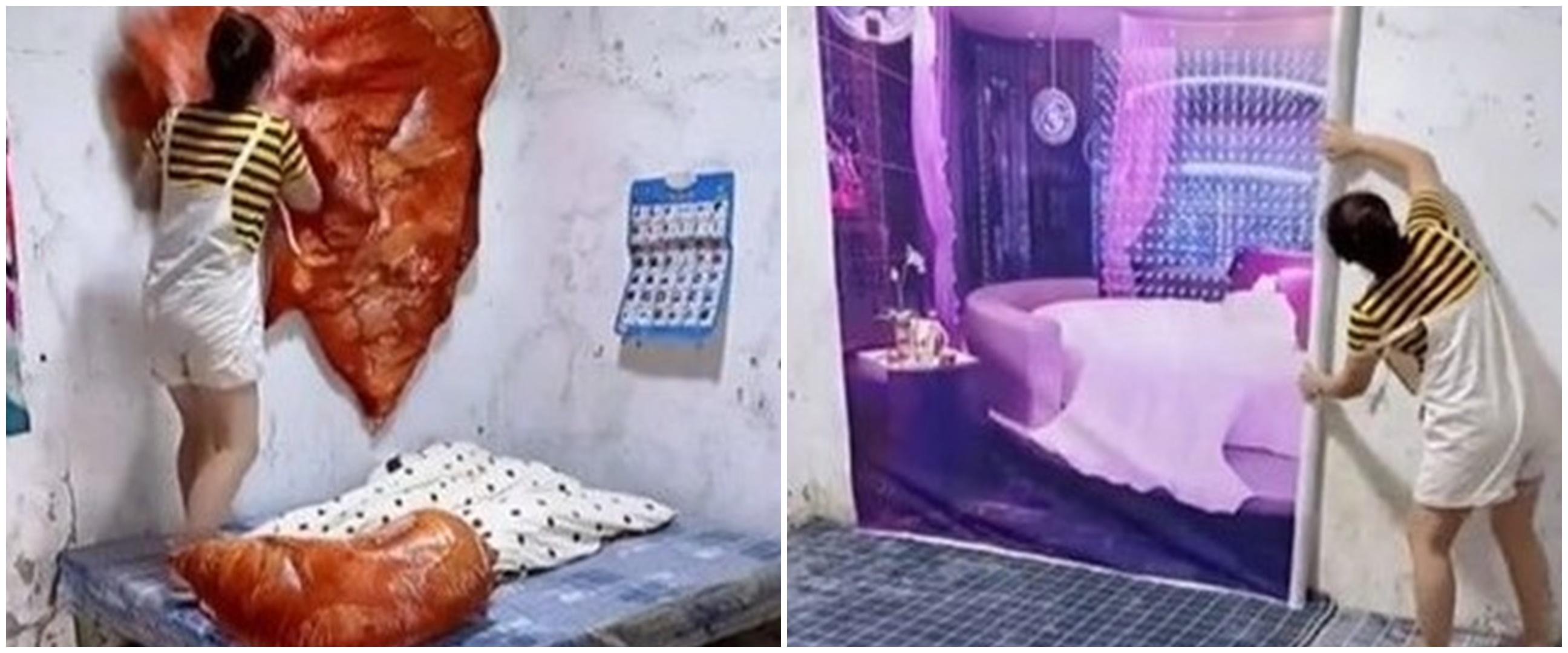 Awalnya penuh sampah, transformasi kamar tidur ini jempolan