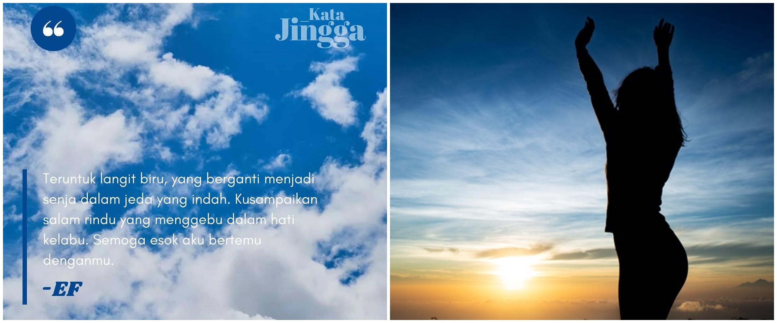 75 Kata-kata bijak tentang langit, penuh makna dan so sweet