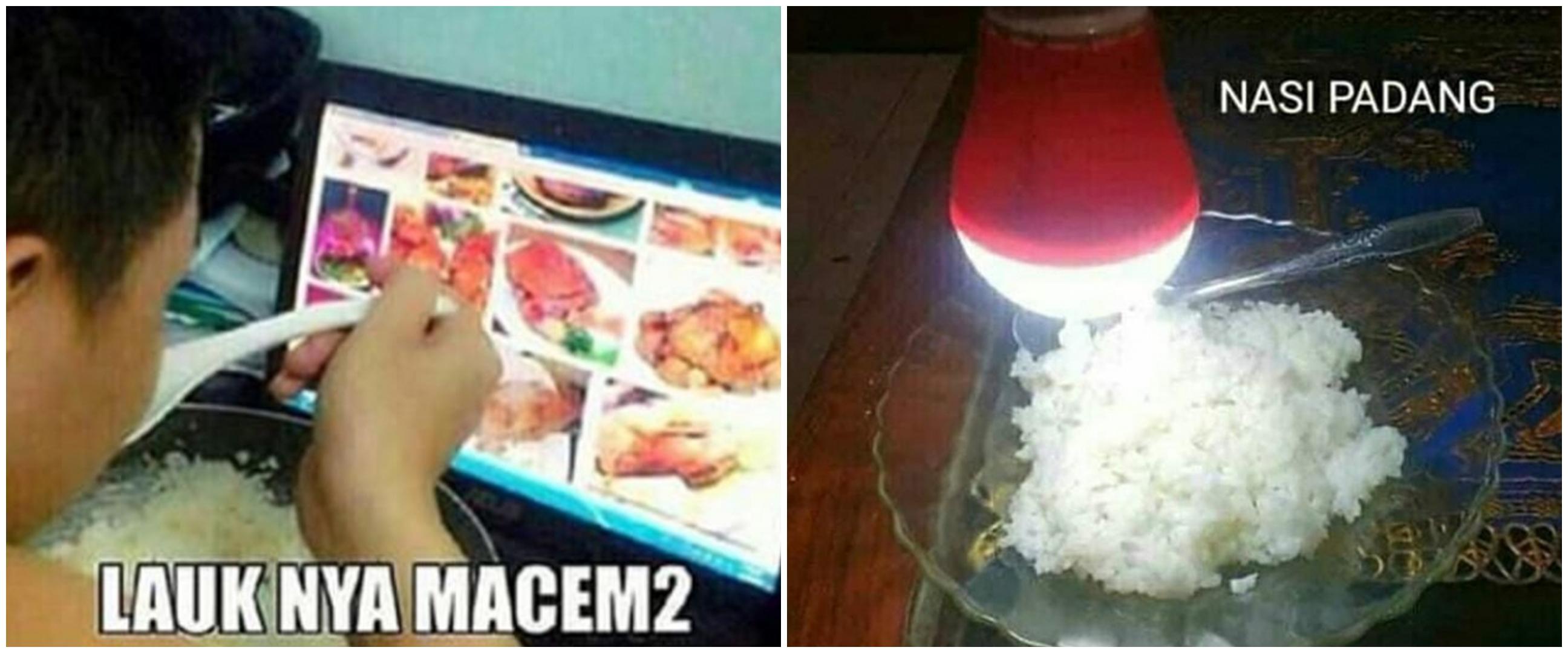 17 Meme lucu menu makanan mahasiswa akhir bulan, bikin ngelus dada