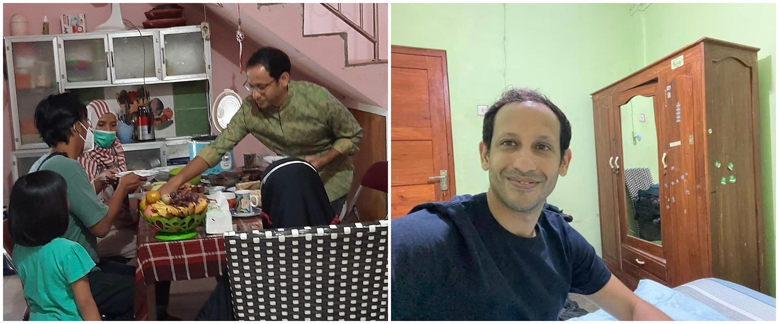 Momen Nadiem Makarim menginap di rumah guru asal Yogyakarta