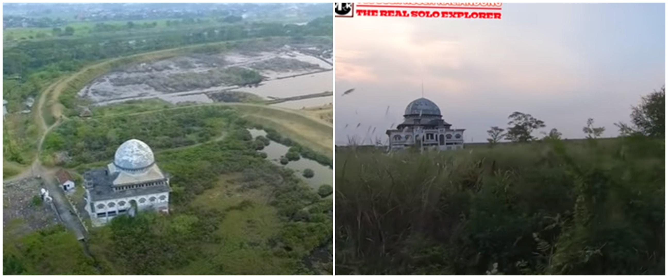 5 Potret masjid tetap kokoh meski terbengkalai akibat lumpur Lapindo