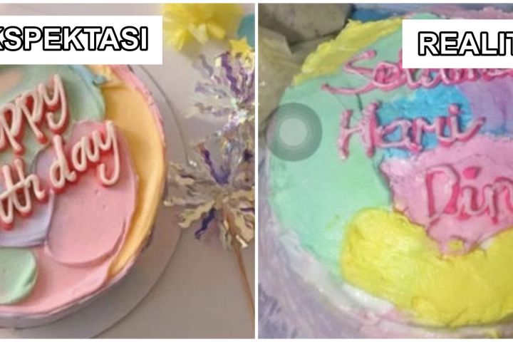 7 Potret ekspektasi vs realita bento cake ini bikin ngelus dada