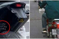 11 Tulisan di sepeda motor ini romantis sih tapi bucin banget