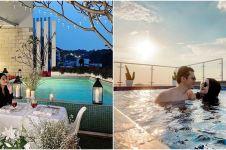 Potret kolam renang 9 seleb di rooftop, ada yang konsep Santorini